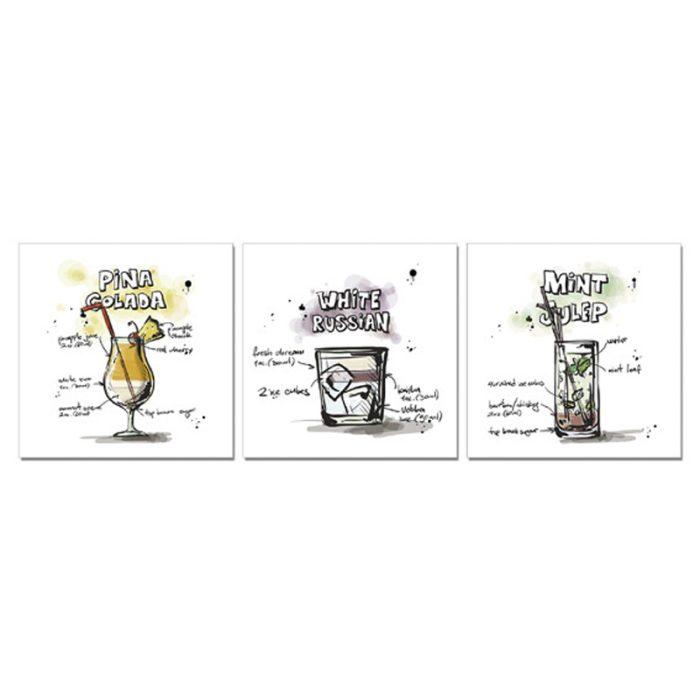 Set tre stampe-Cocktail-Immmagine principale prodotto
