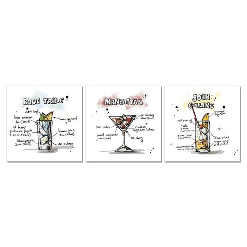 Set tre stampe- Cocktail 2-Immagine principale prodotto